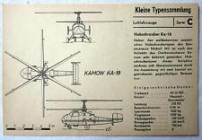 DDR Kleine Typensammlung Luftfahrzeuge - Hubschrauber Ka-18