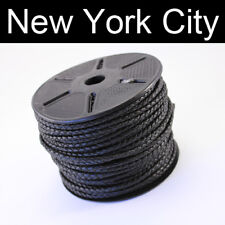 3mm Black Bolo Braided Leather Cord Necklace 50 meter