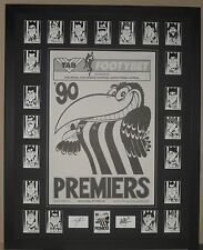 Collingwood 1990 Weg Poster & Weg Card Set *Signed*