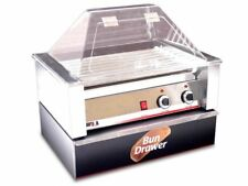 HOT DOG ROLLER GRILL 10 HOTDOGS w/ SNEEZE GUARD BUN BOX