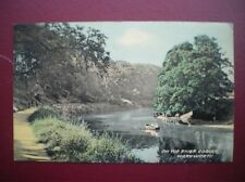 POSTCARD NORTHUMBERLAND WARKWORTH - ON THE RIVER COQUET 1950'S