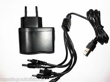 Combo of AC Mobile Charger + 5 In 1 Multi Pin Usb Charger Cable
