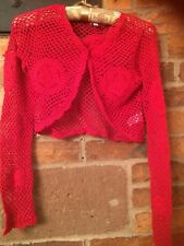 Monsoon Girls Crochet Crop Cardigan Size 10-12 Yrs Excellent Condition