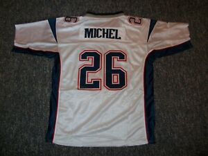SONY MICHEL Unsigned Custom White Sewn New Football Jersey Sizes S-3XL