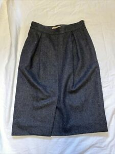 Vintage Gucci 100% Wool Brand Lined Skirt Size 40