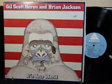 GIL SCOTT-HERON & BRIAN JACKSON It's Your World 2 LP ARISTA AL 5001 1976 Jazz
