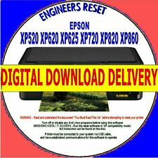 EPSON XP520 XP620 XP625 XP720 XP820/860 WASTE INK COUNTER RESET DIGITAL DOWNLOAD