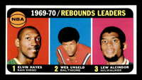 1970 Topps #5 Elvin Hayes/Wes Unseld/Lew Alcindor LL EXMT X1588121