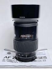 Télé-objectif ZOOM AF MINOLTA/SONY ALPHA (+ E) 70-210mm f/4,5-5,6 + UV Toshiba