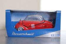 Red Messerschmitt Kabinennroller Kit KR 200 1967 Diecast Model Kit 1/18