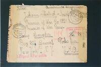 Germany 1944 US POW Cover / Double Censor / Sm Bottom Tear - Z3267
