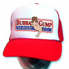 New Curved Bill Bubba Gump Shrimp Hat RED Cap Forrest Gump HALLOWEEN Costume