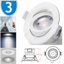 3x Adjustable Tilt Downlight Spot Light Ceiling Recessed Mounted LED 7W Mains