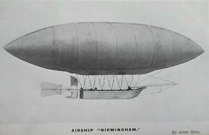 "AIRSHIP ""BIRMINGHAM""  Postcard"