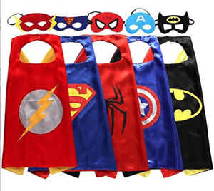 Flash, Superman, Spiderman, Batman, & Captain America Costume Set - NEW