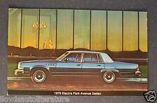 1979 Buick Electra Park Avenue Postcard Sales Brochure Excellent Original 79