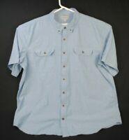 Carhartt Blue Short Sleeve Relaxed Fit Shirt Size Men's 3XLT