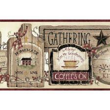 Gathering Room Signs Border Bbc20061B wallpaper brown Easy-Walls prepasted