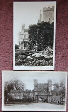 2x Battle Abbey Vintage Photographic Postcard Hastings East Sussex 1919