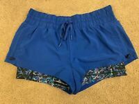 Zella double layer shorts size S blue perfect condition