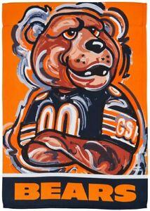 "Chicago Bears 12.5"" x 18"" Suede Flag, GDN Justin Patten"