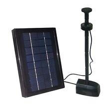 2.5 Watt Solar Powered Water Pump Kit w/ Battery Pool Fountain Garden Yard Decor
