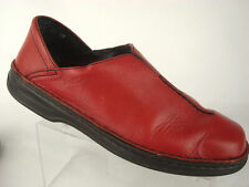 Josef Siebel Comfort Loafer Square Toe Slip On EU 40 US 9 9.5 Women Leather Red