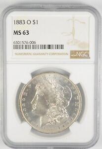 MS63 GRADED - 1883-O Morgan Silver Dollar- NGC *604
