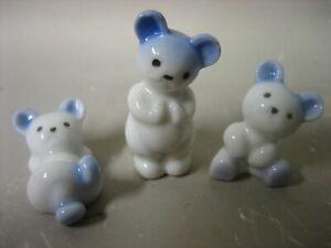 3 x little bear figurines