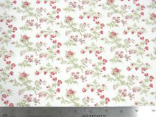 Moda 3 Sisters Seaside Rose Rosebuds White Fabric