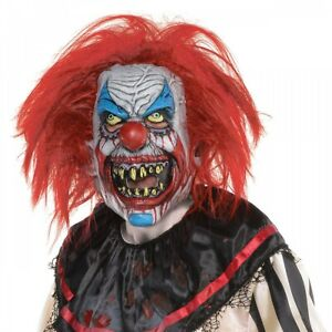 Scary Clown Mask Adult Size for Evil Clown Halloween Costume