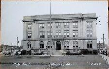 Racine, WI 1940s Realphoto Postcard: City Hall - Wisconsin Wis