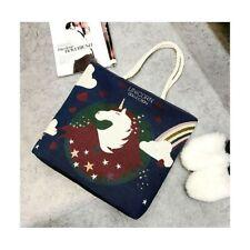 Damenhandtasche Handtasche Strandtasche Badetasche Einhorn Design Unicorn Beige