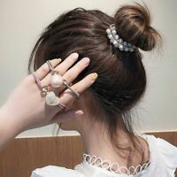 3Pcs Korean Cute Heart Ball Round Hair Rope Women Ponytail Holder Hair Ties -
