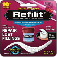 Permanent Dental Cement Filling Tooth Repair Strength Kit Cherry Flavour Refill