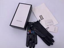 Neu Luxury Original GUCCI Damen Handschuhe-501131- Leder Große-7,5-M