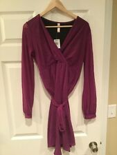 Sweet Pea V-Neck Purple Wrap Style Dress Dress, Size Large NWT!