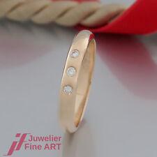 Cartier Ring mit  3 Brillanten (Diamant) ges. ca. 0,10ct - 18K/750 Gelbgold
