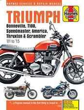 Triumph Bonneville T100 Speedmaster America Thruxton Scrambler 01-05 Haynes 4364