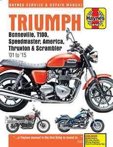 Triumph Bonneville (01 - 15) Haynes Repair Manual