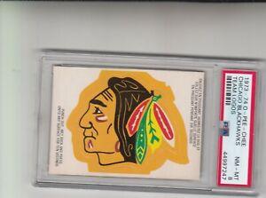 1973-74 O-Pee-Chee Chicago Blackhawks Team Logos PSA 8