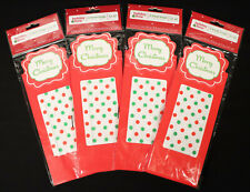 Lot of 12 Bags - 4/3pk Holiday Time Treat Bags Merry Christmas Polka Dot Red NEW