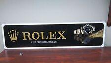 """Rolex Watch Gold Aluminum sign  6"""" x 24"""""""