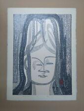 Rare KIYOSHI SAITO Signed 1962 Woodblock Print #6/200 - Buddha