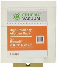 5 Replacements Bissell DigiPro Canister Vacuum Bags Part # 32115