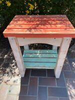 Vintage Colorful Accent Table