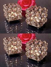 4 Pcs Crystal Tealight Votive Candle Holders Wedding Centerpiece Candlesticks