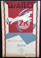 LES AILES Wings AVIATION Guerre WWI CINEMA Wellman Oscar LEMU Programme 1929