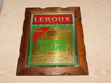 "New listing Vintage Liquor Bar 16 1/2"" X 13 1/2"" Leroux Peppermint Schnapps Mirror Wall Sign"