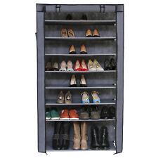 Songmics XXL Armoire / etageres a Chaussures 10 couches avec Housse Gris 88 x 2